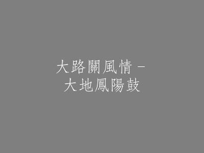 007 大路關風情–大地鳳陽鼓