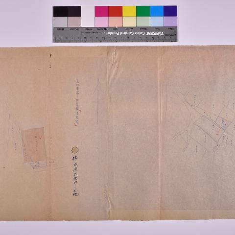1898-省屬機構使用台糖土地圖袋-002-永康段位置圖台南農校出借