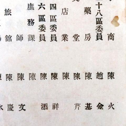 127開設大生藥房的陳基六 會員名簿